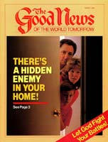 There's a Hidden Enemy in Your Home! Good News Magazine March 1985 Volume: VOL. XXXII, NO. 3