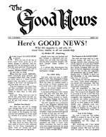 Pagan Holidays - or Gods Holydays - Which? - Part 1 Good News Magazine April 1951 Volume: Vol I, No. 1