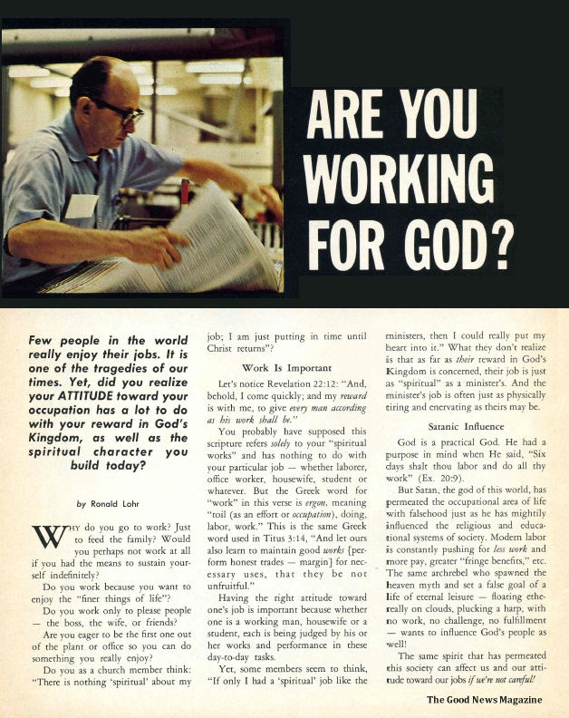Are You Working for God?