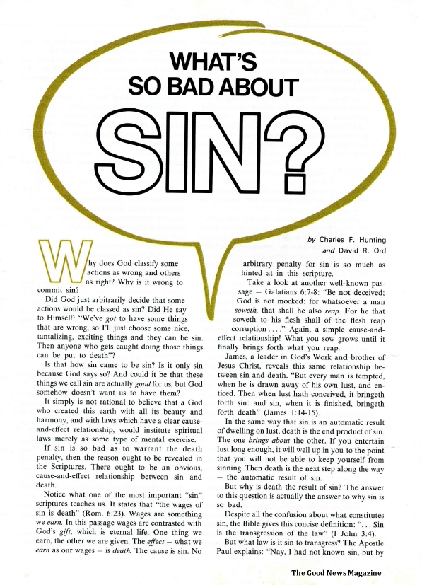 What's So Bad About Sin?