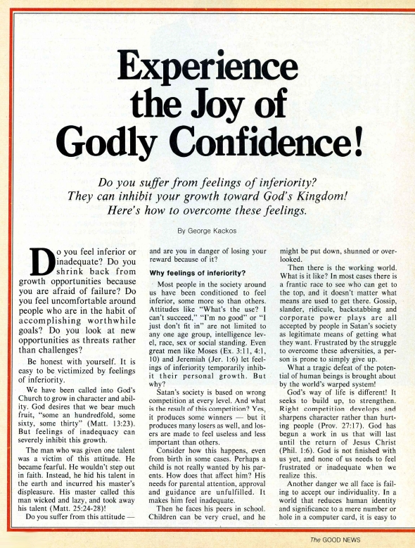 Experience the Joy of Godly Confidence!