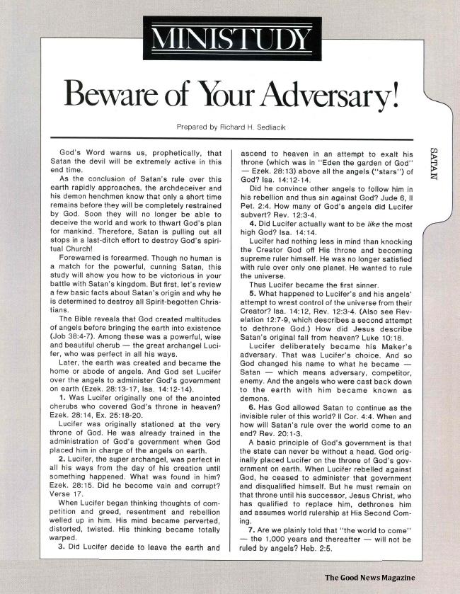 MINISTUDY: Beware of Your Adversary!