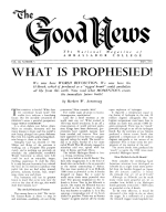 I Apologize Good News Magazine May 1953 Volume: Vol III, No. 5