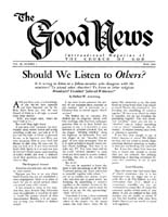 Should We Pray to GOD, or Only to Christ? Good News Magazine May 1960 Volume: Vol IX, No. 5