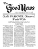 God's PASSOVER Observed World-Wide