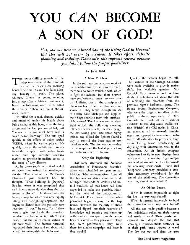 You Can Become a Son of God!