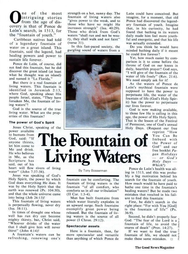 The Fountain of Living Waters