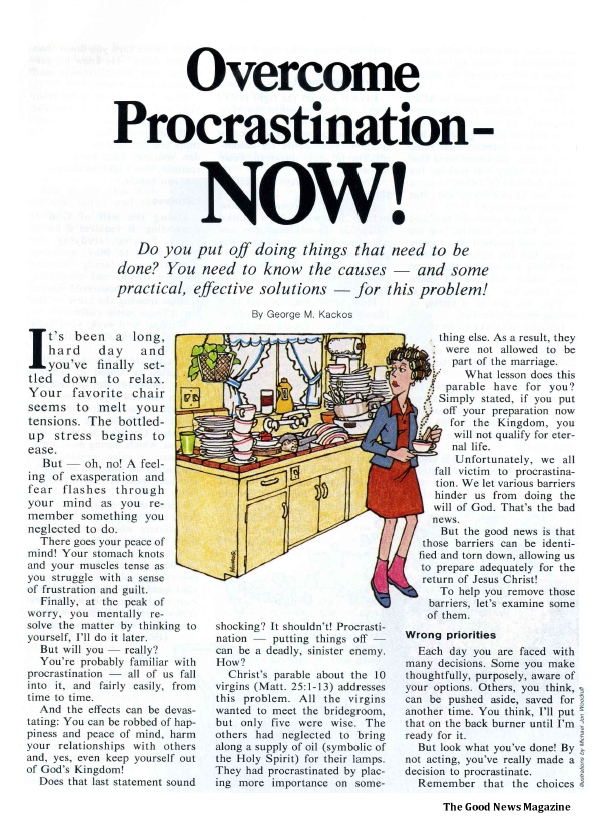 Overcome Procrastination - NOW!