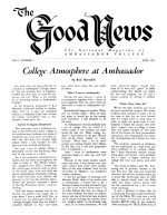 Pagan Holidays - or Gods Holydays - Which? - Part 2 Good News Magazine June 1951 Volume: Vol I, No. 2