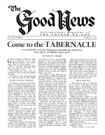 Come to the TABERNACLE Good News Magazine June-July 1958 Volume: Vol VII, No. 6