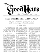 More MINISTERS ORDAINED! Good News Magazine June 1960 Volume: Vol IX, No. 6