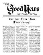 How the World Suppressed God's 7000-Year Plan Good News Magazine June 1962 Volume: Vol XI, No. 6