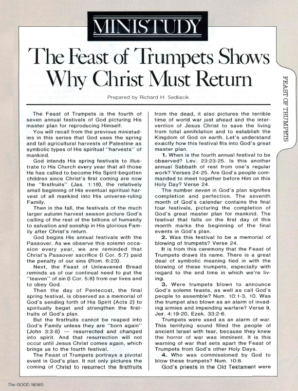 MINISTUDY: The Feast of Trumpets Shows Why Christ Must Return