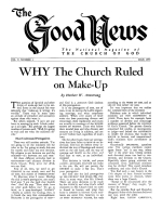Does GOD Have a Headquarters Church Today? Good News Magazine July 1955 Volume: Vol V, No. 3