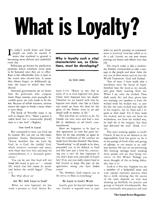 What is Loyalty?