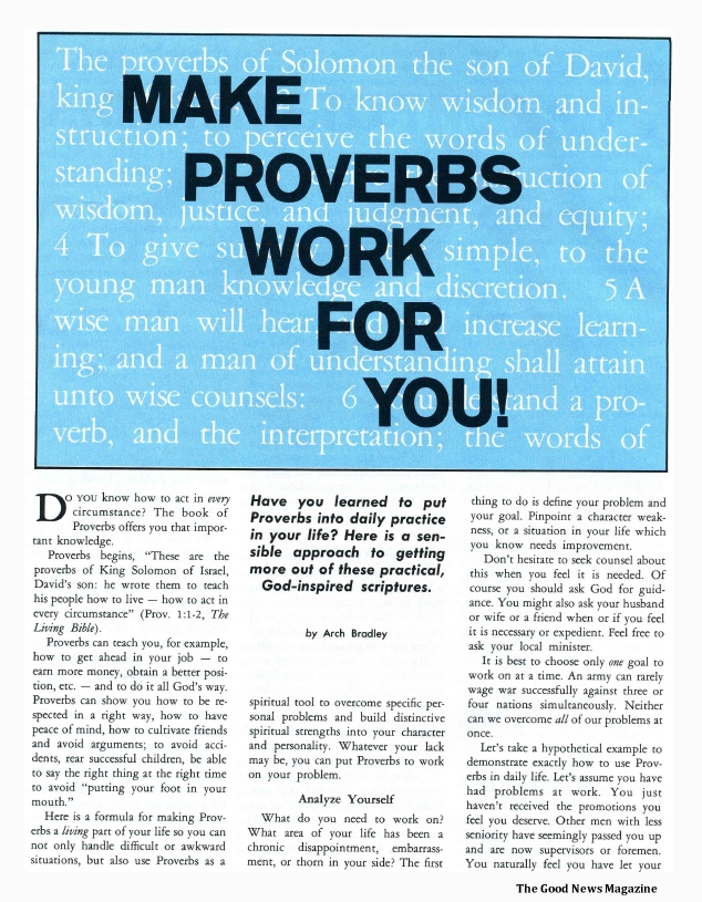 Make Proverbs Work for You!
