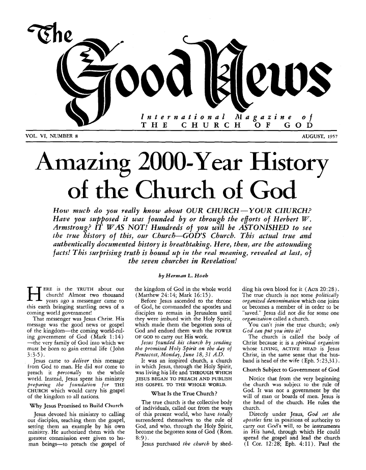 Amazing 2000-Year History of the Church of God