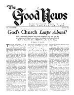 JUDGING and DISCIPLINE in God's Church Good News Magazine August 1958 Volume: Vol VII, No. 7