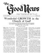 The Fear of the Unpardonable Sin Good News Magazine August 1959 Volume: Vol VIII, No. 8