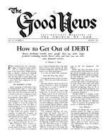 Be a POSITIVE Christian Good News Magazine August 1960 Volume: Vol IX, No. 8