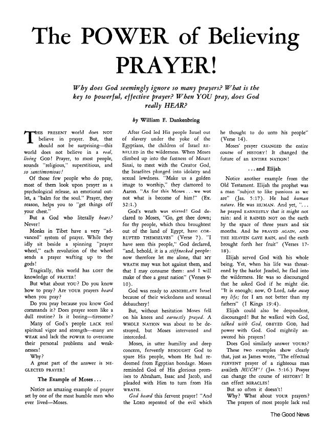 The POWER of Believing PRAYER!