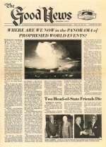 Israel's threat from the north Good News Magazine August 28, 1978 Volume: Vol VI, No. 18