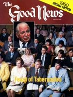The Feast of Tabernacles - Its MEANING for New Testament Christians Good News Magazine August 1980 Volume: VOL. XXVII, NO. 7 Issue: ISSN 0432-0816