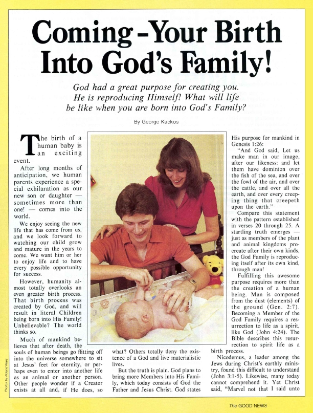 Coming - Your Birth Into God's Family!