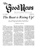 The Beast is Rising Up! Good News Magazine September 1952 Volume: Vol II, No. 9
