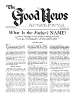 SEVEN Proofs of Conversion Good News Magazine September 1959 Volume: Vol VIII, No. 9