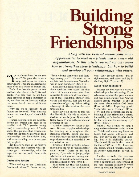 Building Strong Friendships