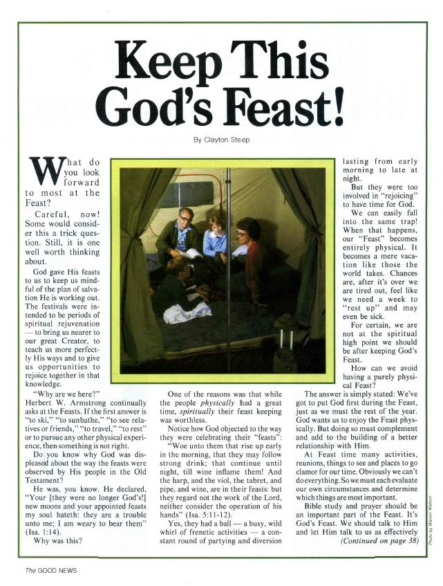 Keep This God's Feast!