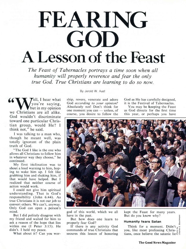 Fearing God - A Lesson of the Feast