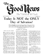 Is God FAIR? Good News Magazine October 1954 Volume: Vol IV, No. 8