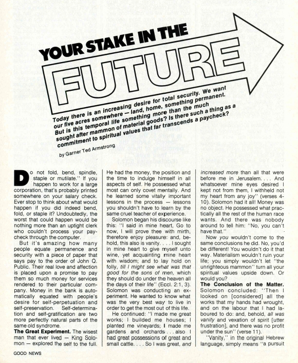 Your Stake in the Future