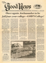 Once Again Ambassador To Be Full Four-Year College – God's College! Good News Magazine October 9, 1978 Volume: Vol VI, No. 21