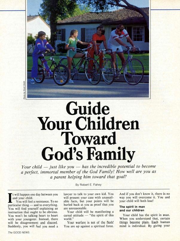Guide Your Children Toward God's Family
