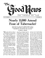 Nearly 11,000 Attend Feast of Tabernacles! Good News Magazine November 1961 Volume: Vol X, No. 11