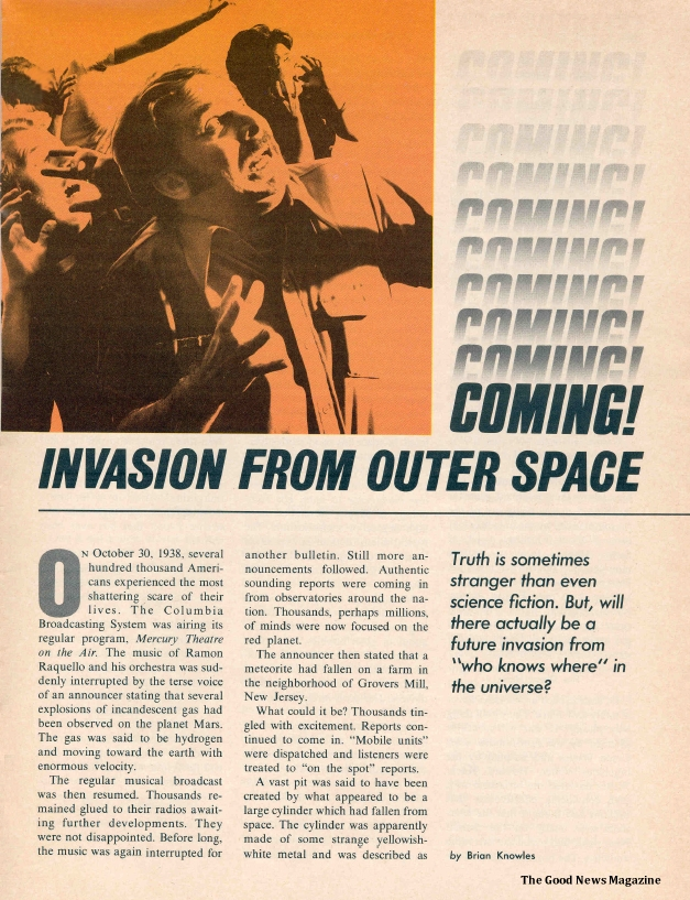 Coming! Invasion from Outer Space