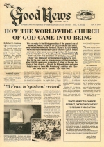 '78 Feast is 'spiritual revival' Good News Magazine November 6, 1978 Volume: Vol VI, No. 22