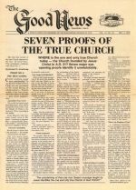 Is Christ Starting A Second Church? Good News Magazine December 04, 1978 Volume: Vol VI, No. 24