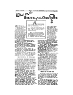 What are the Times of the GENTILES? Plain Truth Magazine January 1938 Volume: Vol III, No.1 Issue: