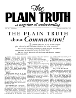 THE PLAIN TRUTH about Communism! Plain Truth Magazine January-February 1949 Volume: Vol XIV, No.1 Issue: