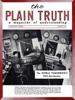 The World Tomorrow's 25th ANNIVERSARY Plain Truth Magazine January 1959 Volume: Vol XXIV, No.1 Issue: