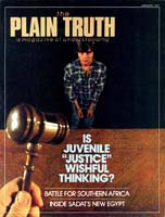 EXCITING NEWS! PEACE IS ON THE WAY! Plain Truth Magazine January 1977 Volume: Vol XLII, No.1 Issue: