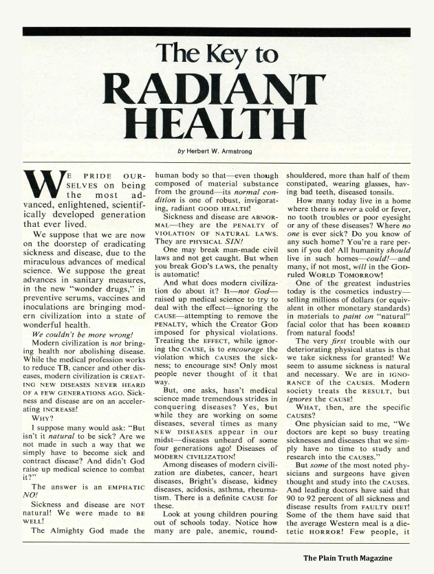 The Key to RADIANT HEALTH
