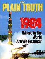 Are People Lost Because of Adam's Sin? Plain Truth Magazine January 1984 Volume: Vol 49, No.1 Issue: