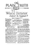 QUESTIONS and ANSWERS Plain Truth Magazine February 1934 Volume: Vol I, No.1 Issue: