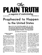 In this Atomic Age... is the BIBLE out-of-date? Plain Truth Magazine February-March 1954 Volume: Vol XIX, No.2 Issue: