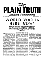 WORLD WAR IS HERE – NOW! Plain Truth Magazine February-March 1955 Volume: Vol XX, No.2 Issue: